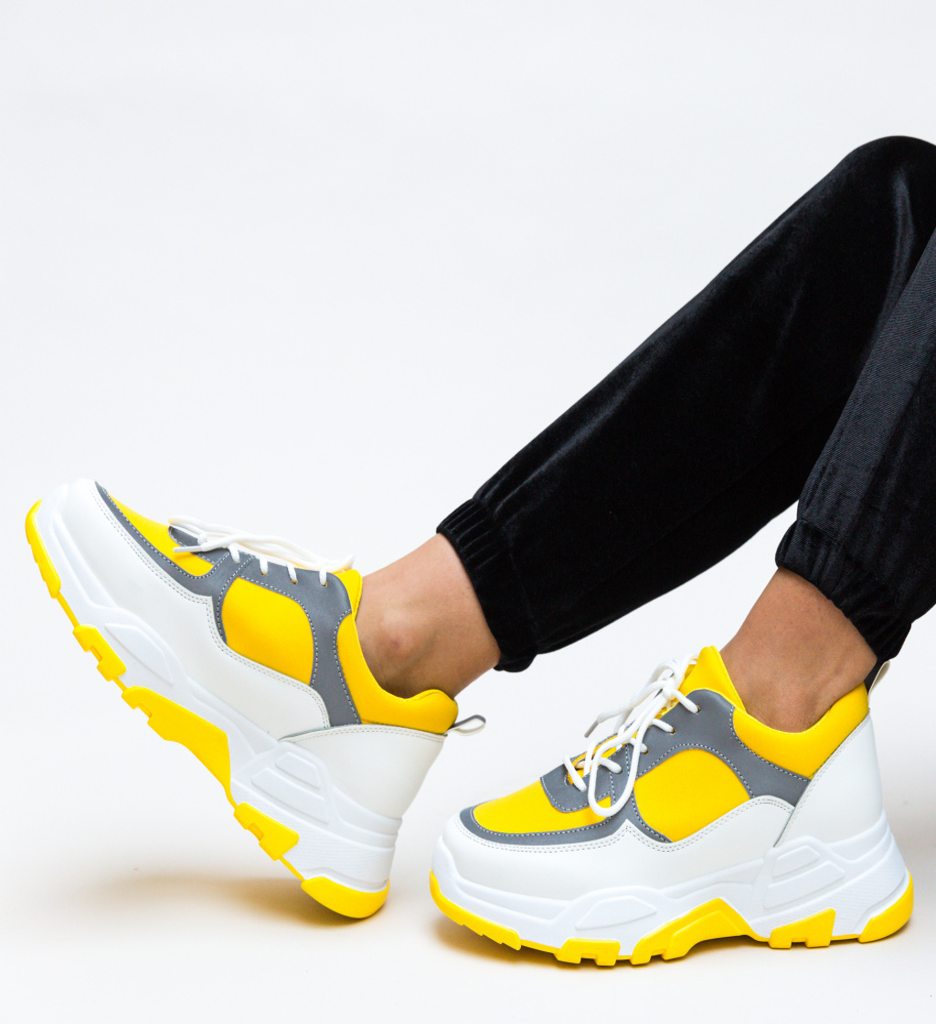 Pantofi Sport Kros Galbeni imagine