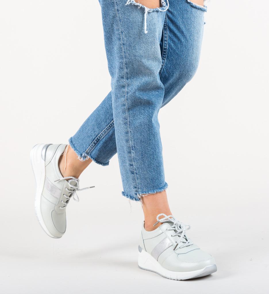 Pantofi Sport Yusha Argintii