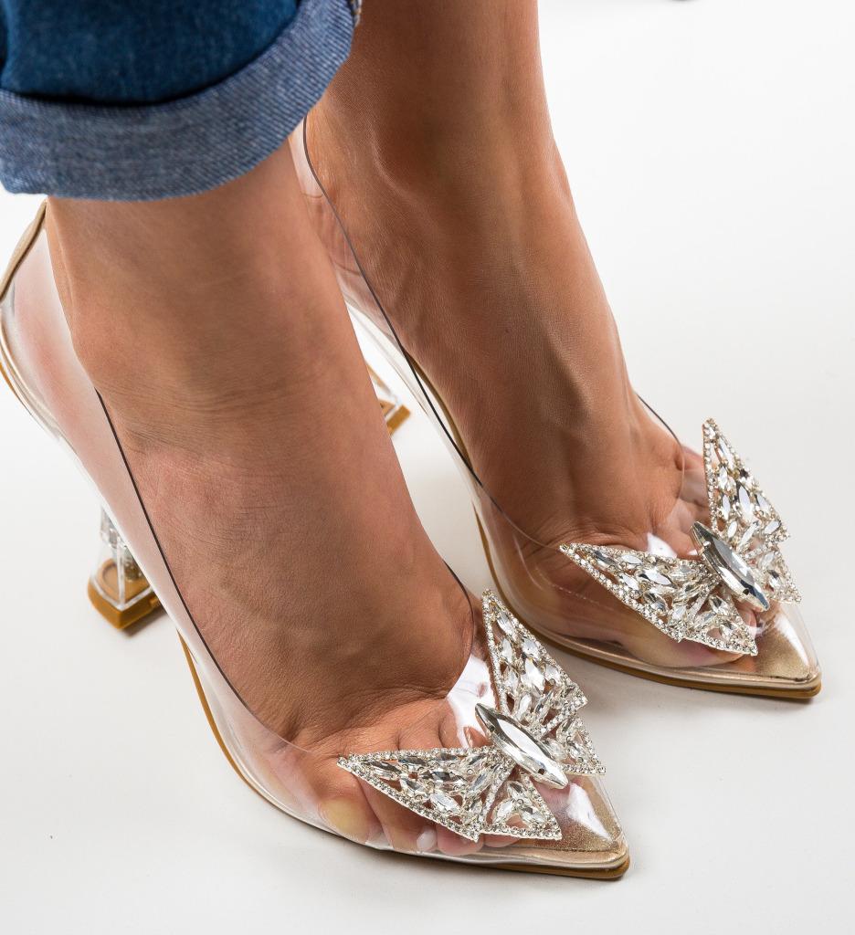 Pantofi Steliz Aurii