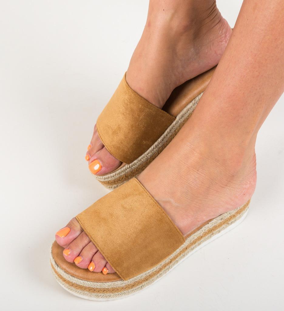 Papuci Cameron Camel imagine