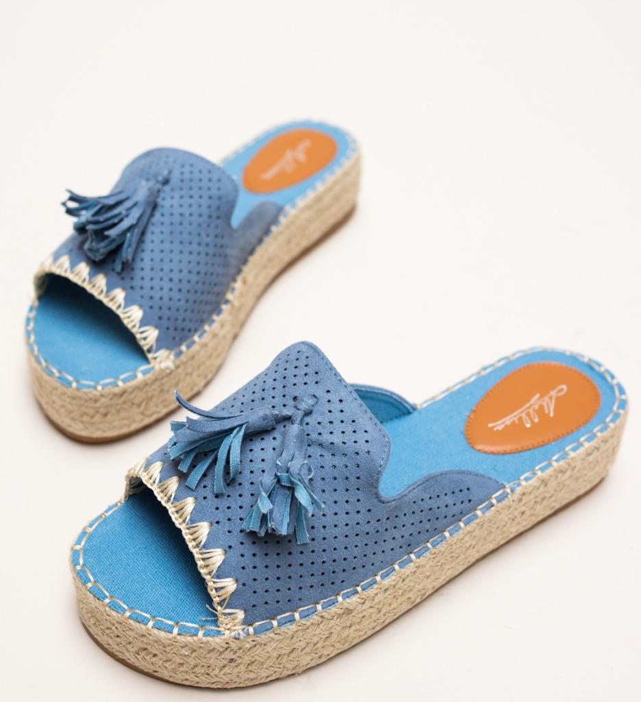 Papuci Cerza Albastri imagine