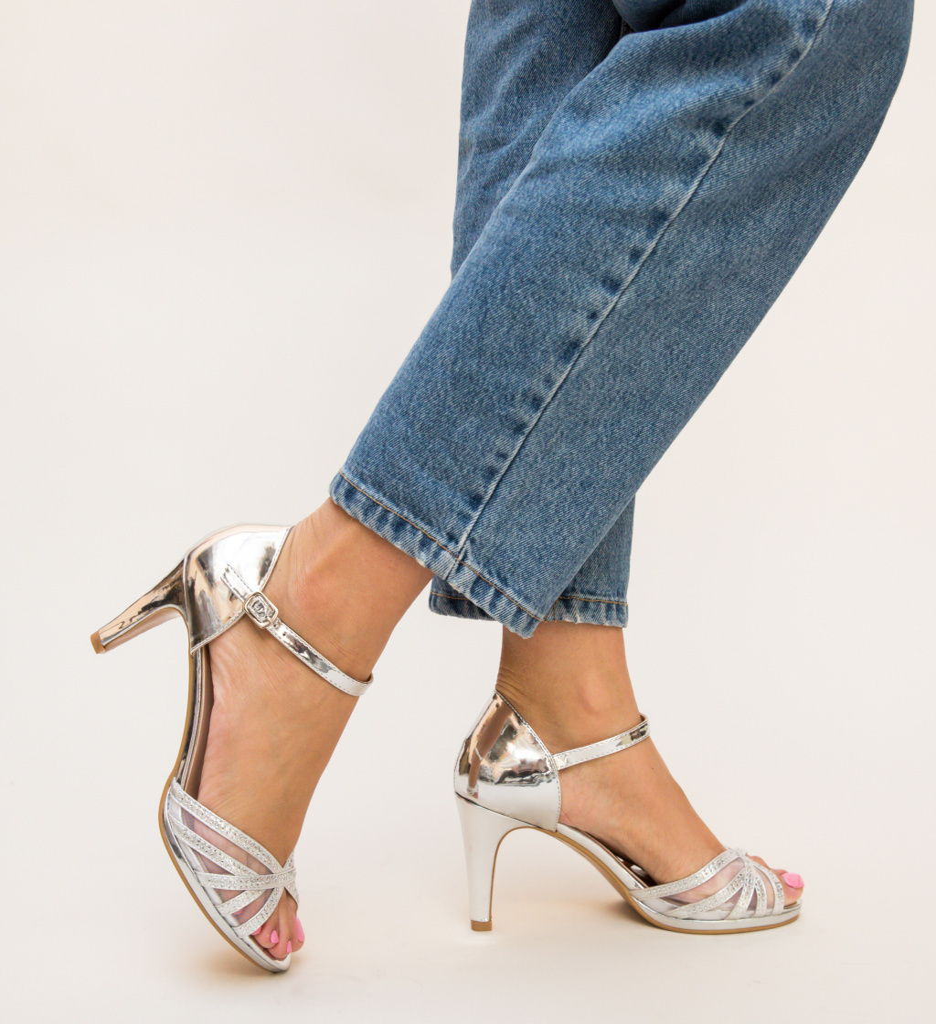 Sandale Mays Argintii
