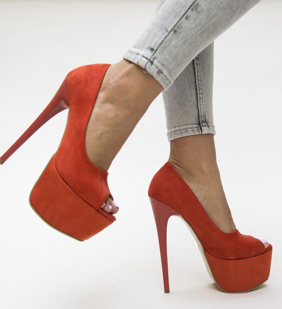 Pantofi Brady Portocalii