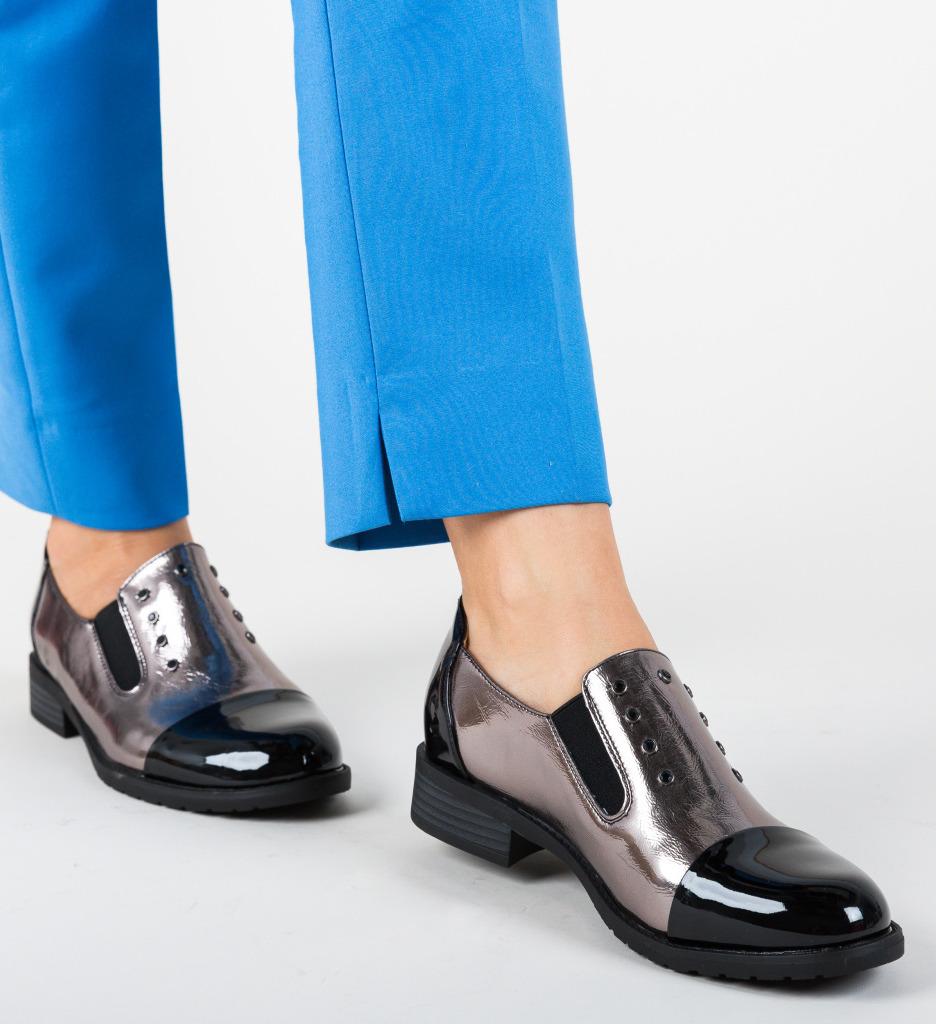 Pantofi Casual Barron Argintii