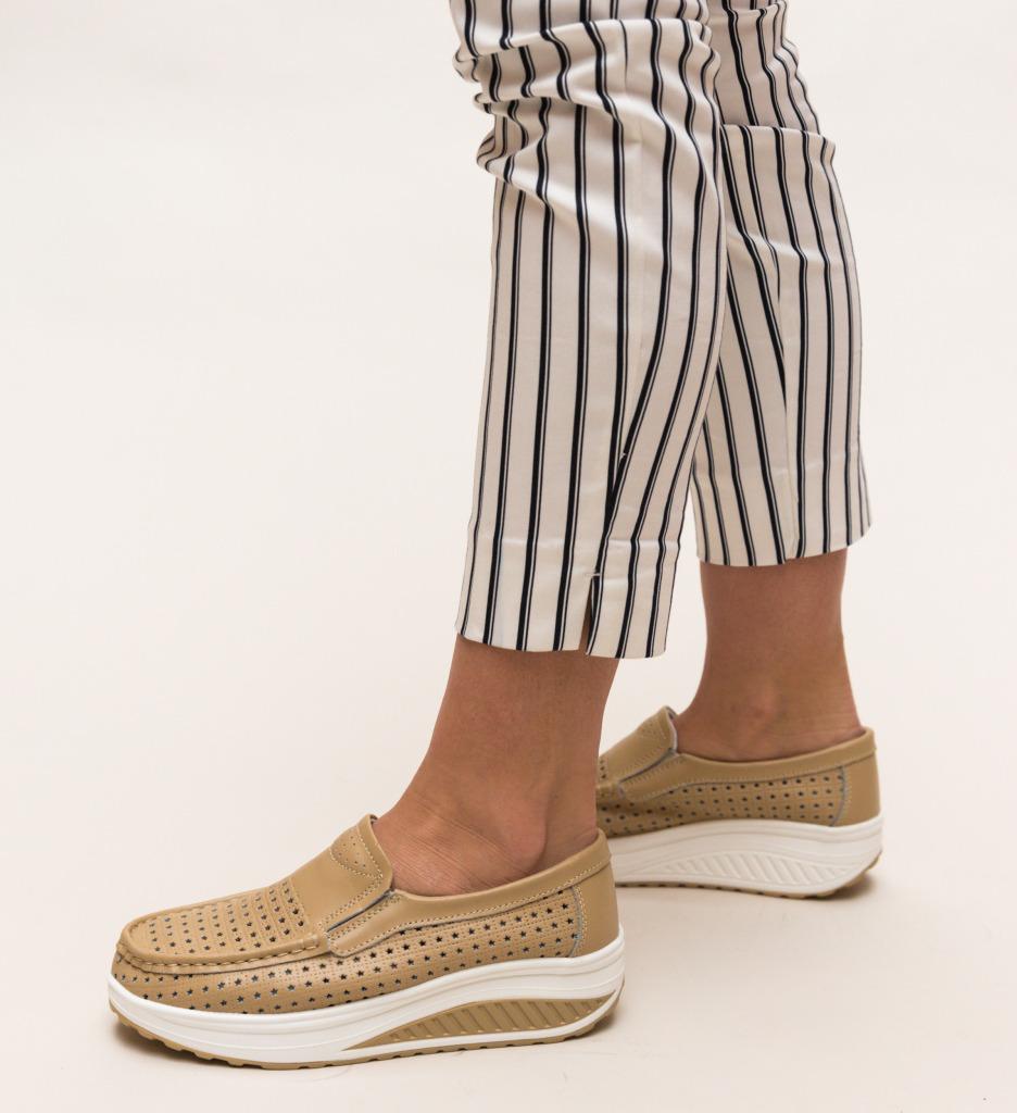 Pantofi Casual Bicaz Bej