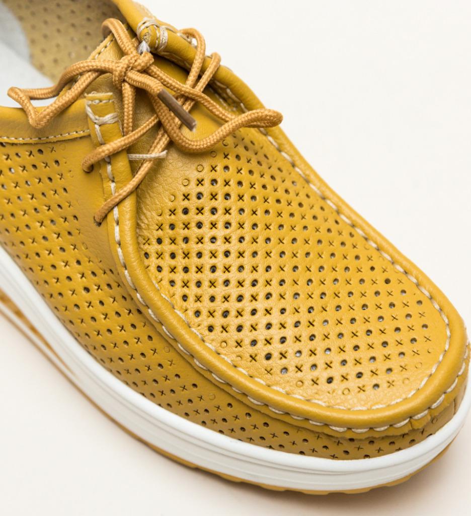 Pantofi Casual Blanken Galbeni