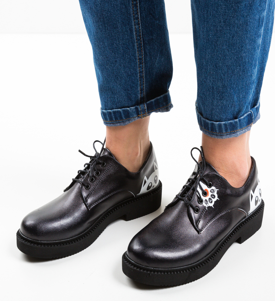 Pantofi Casual Cats Negri 2