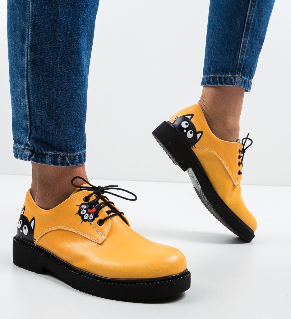 Pantofi Casual Cats Portocalii 2