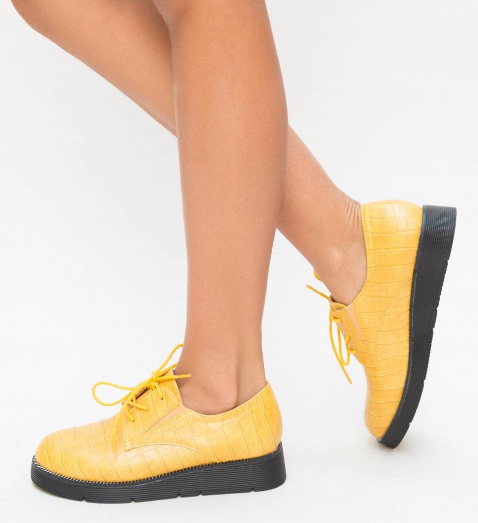 Pantofi Casual Erto Galbeni imagine 2021