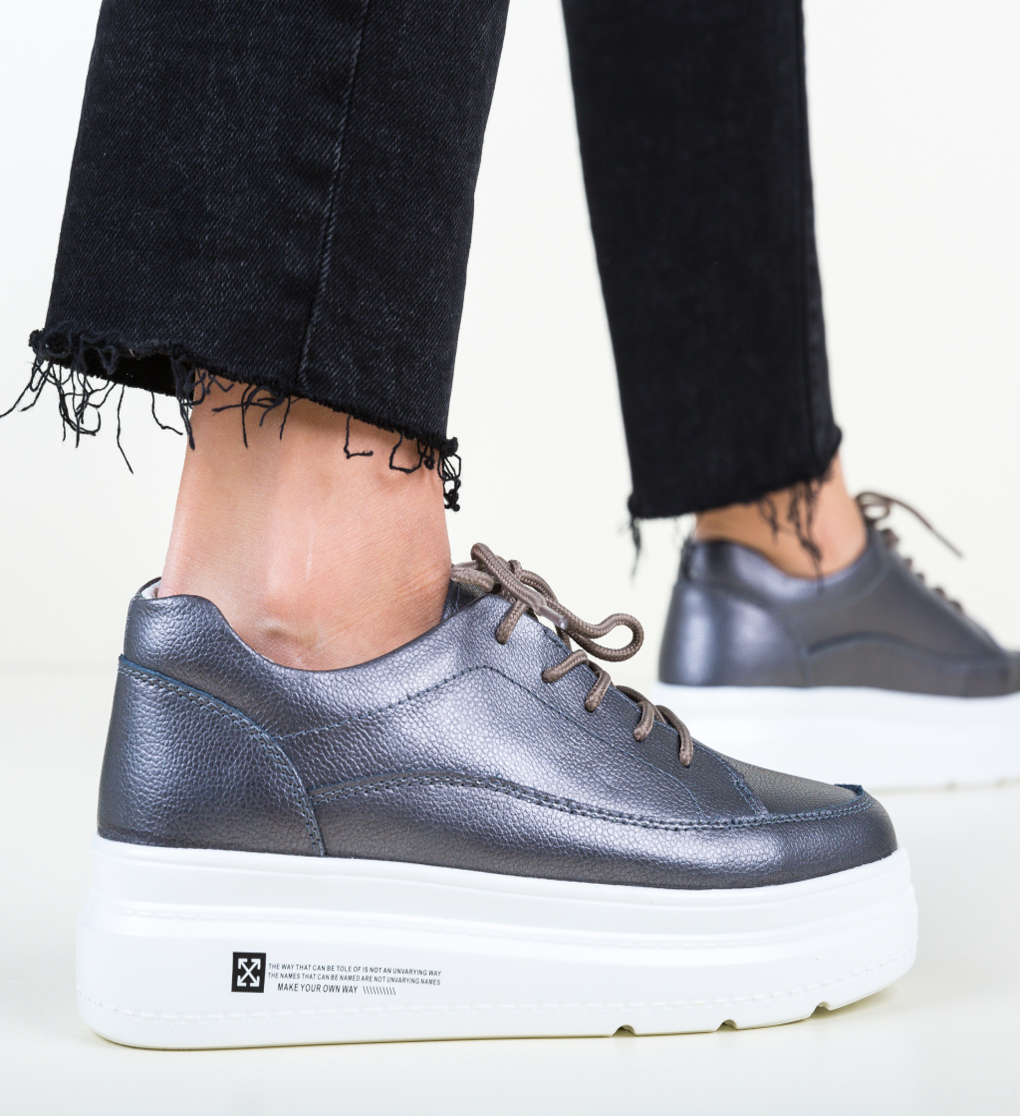 Pantofi Casual Figuer Gri