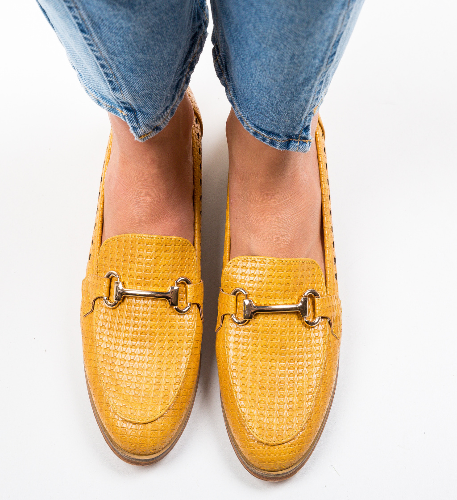 Pantofi Casual Gaia Galbeni