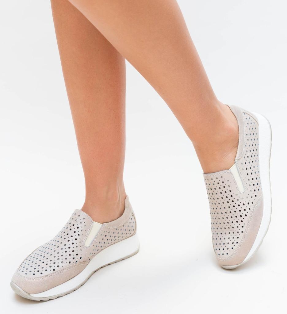 Pantofi Casual Olda Bej