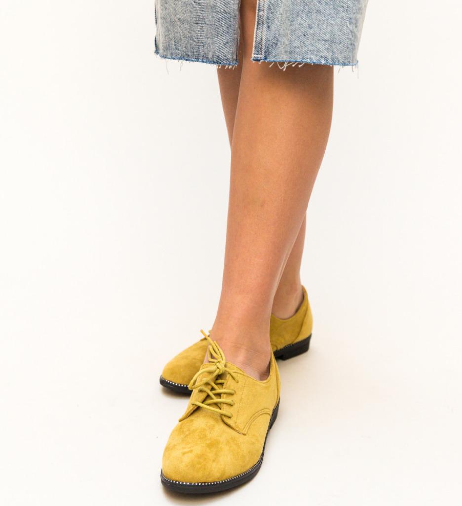 Pantofi Casual Redinco Galbeni imagine