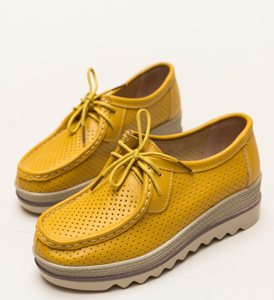 Pantofi Casual Torino Galbeni