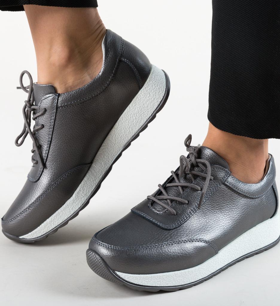 Pantofi Casual Velma Gri