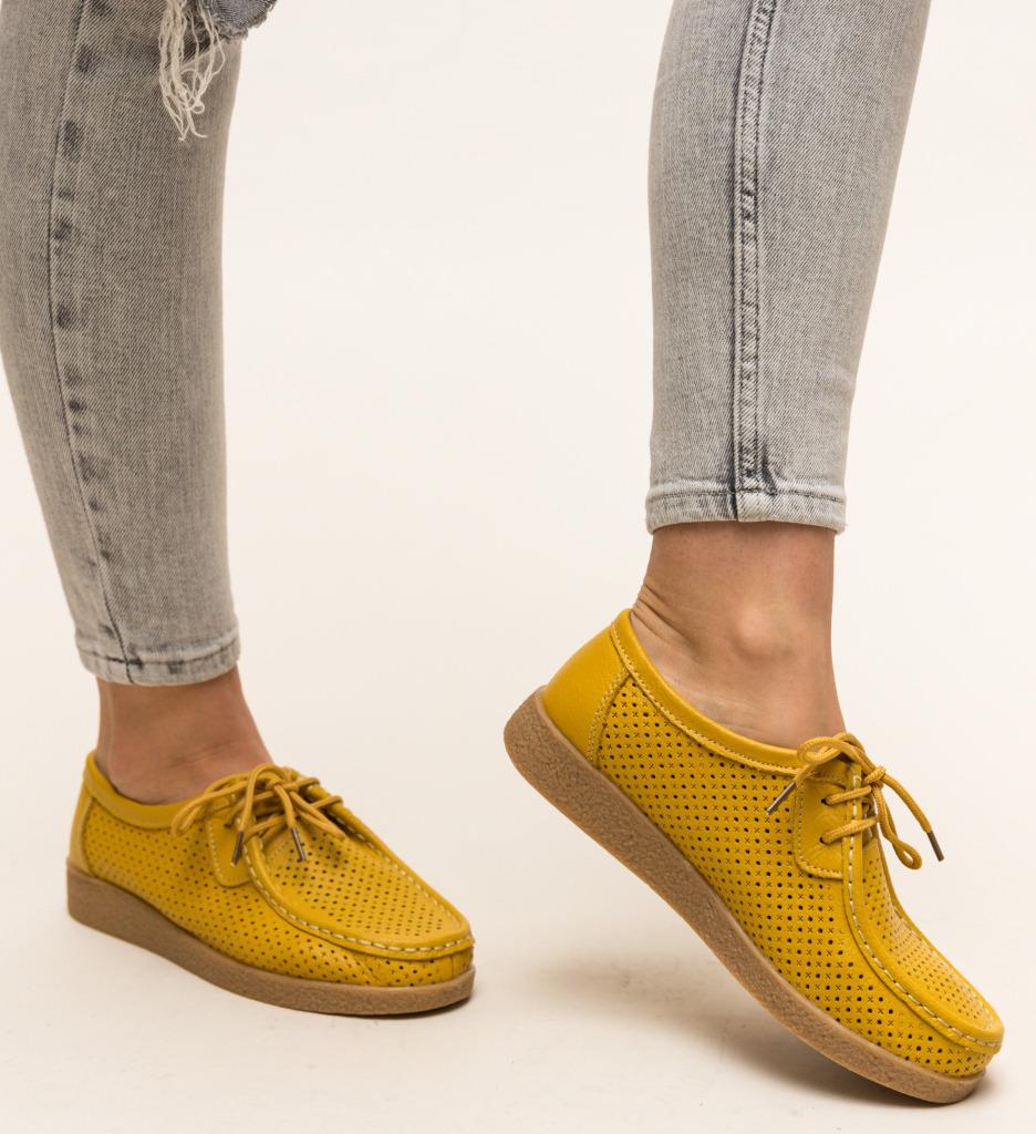 Pantofi Casual Yorker Galbeni imagine 2021
