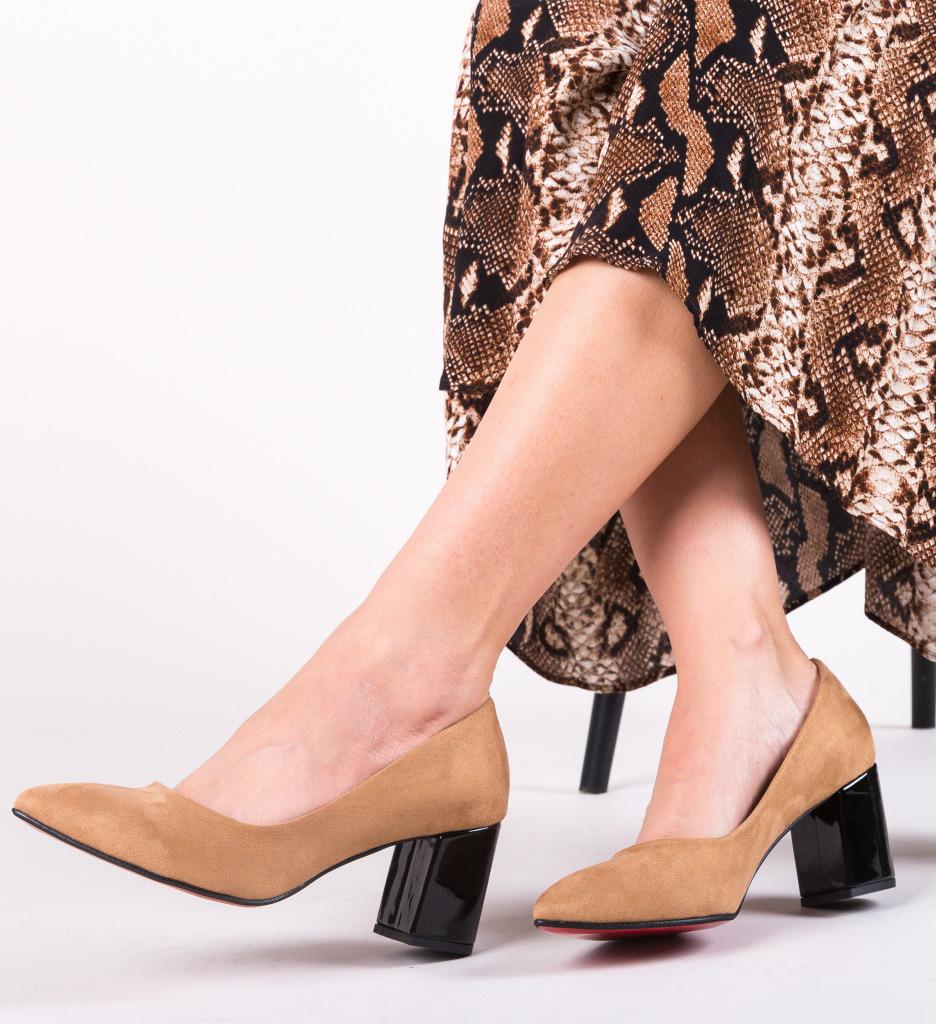 Pantofi Coffe Camel imagine