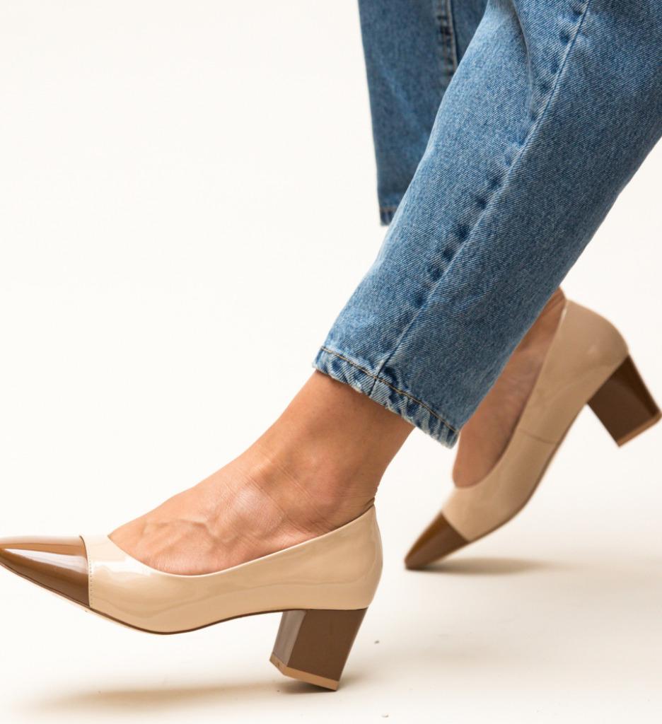 Pantofi Ella Camel