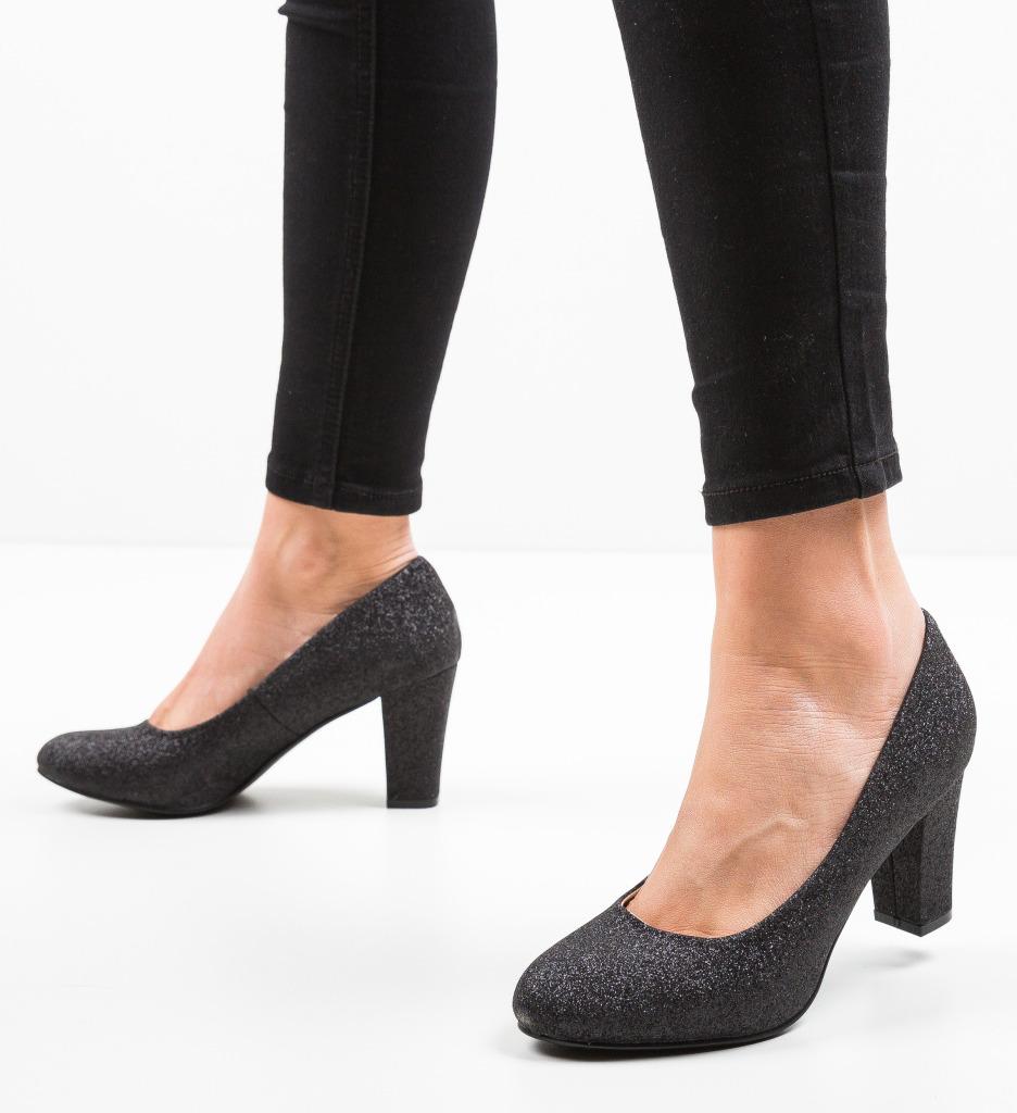 Pantofi Esoum Negri