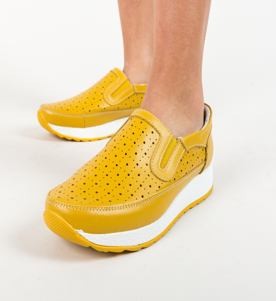 Pantofi Ferne Galbeni imagine