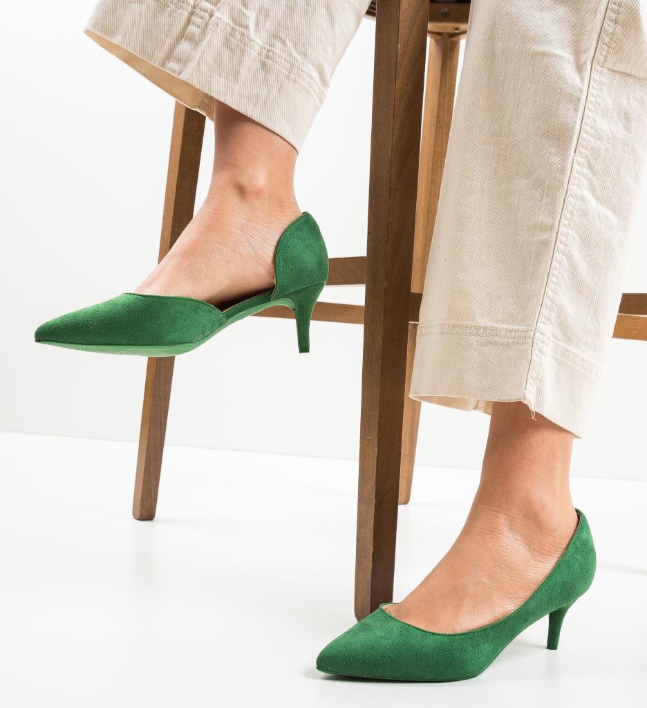 Pantofi Gely Verzi