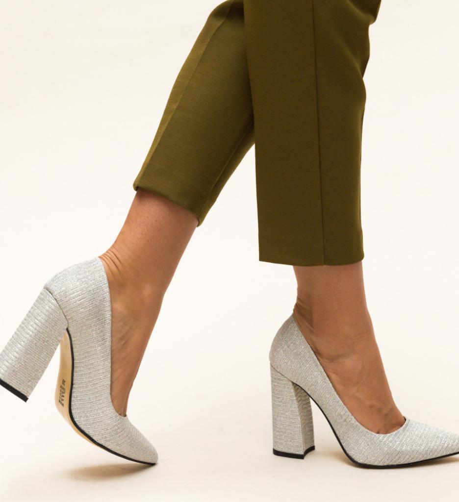 Pantofi Soreen Argintii