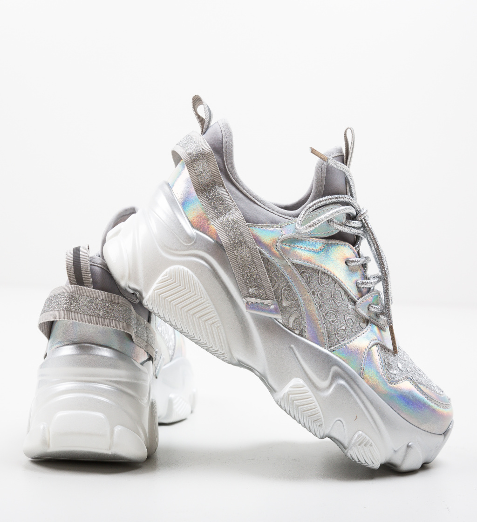 Pantofi Sport Decene Argintii