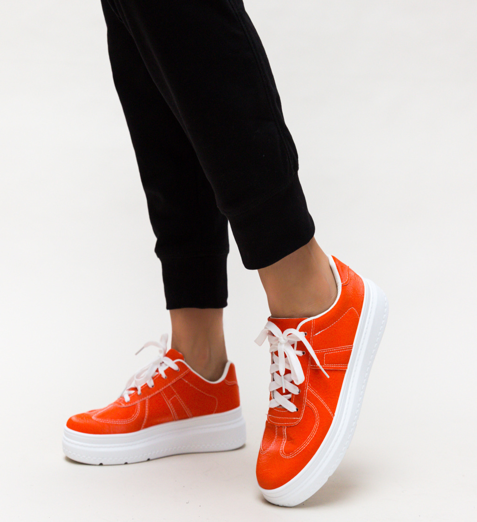 Pantofi Sport Habib Portocalii