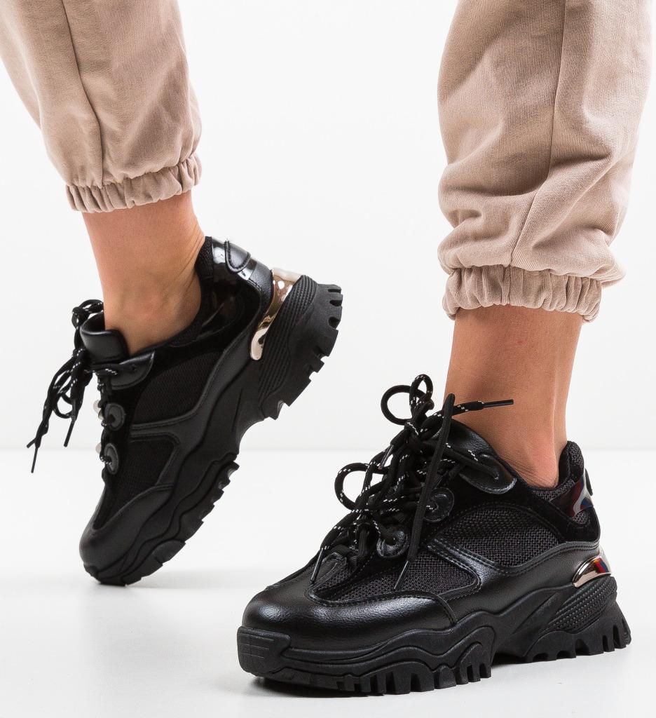 Pantofi Sport Leoram Negri