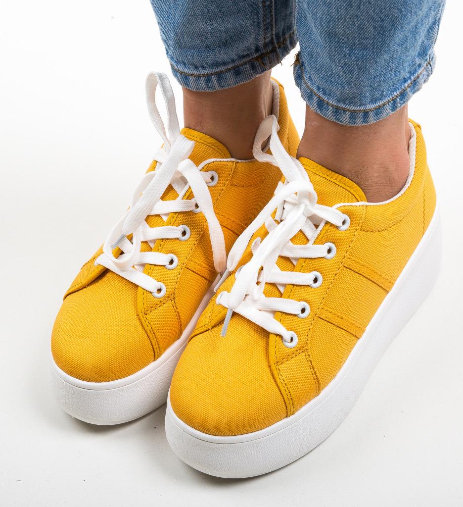 Pantofi Sport Woka Galbeni