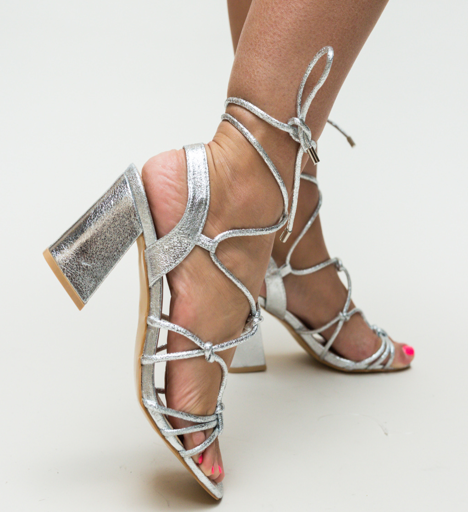 Sandale Elles Argintii