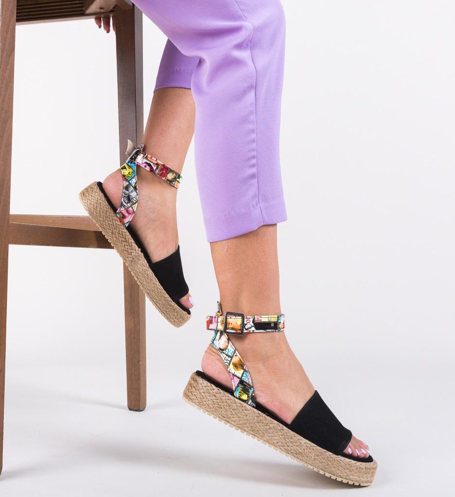 Sandale Papeer Negre