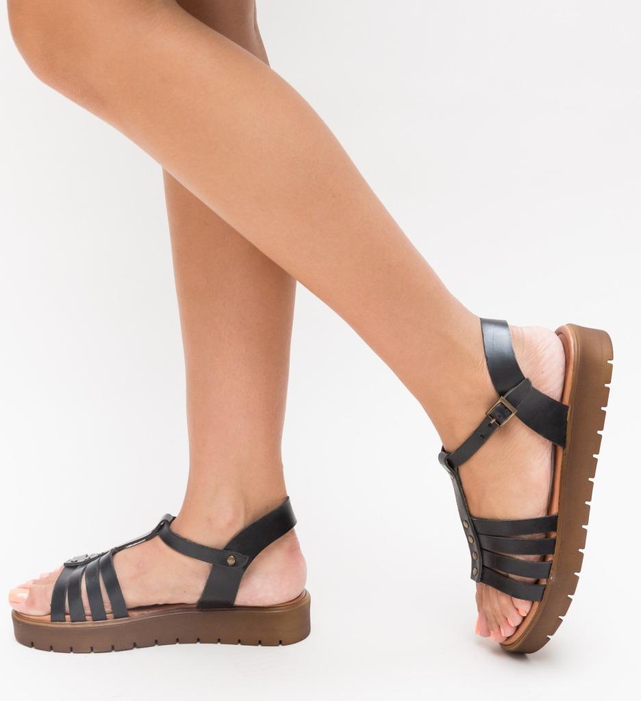 Sandale Suvio Negre imagine