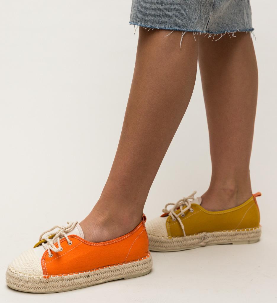 Pantofi Casual Misi Portocali