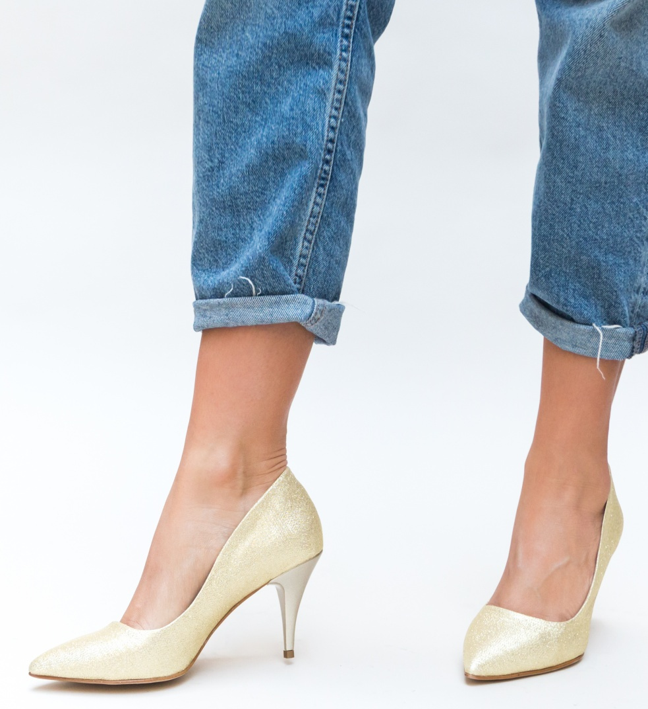 Pantofi Buhas Aurii