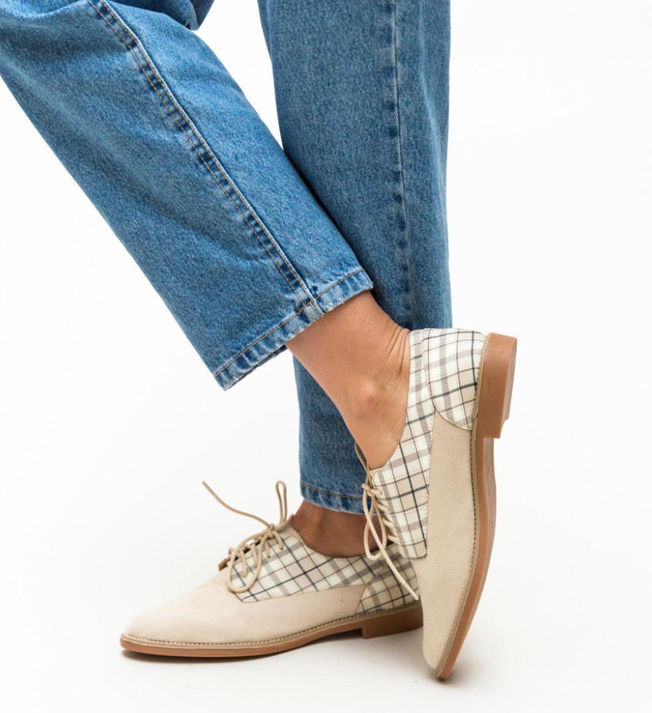 Pantofi Casual Biskrem Bej