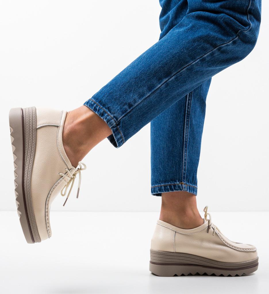 Pantofi Casual Bubina Bej