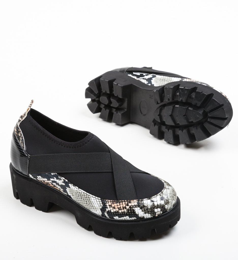 Pantofi Casual Buse Negri 4