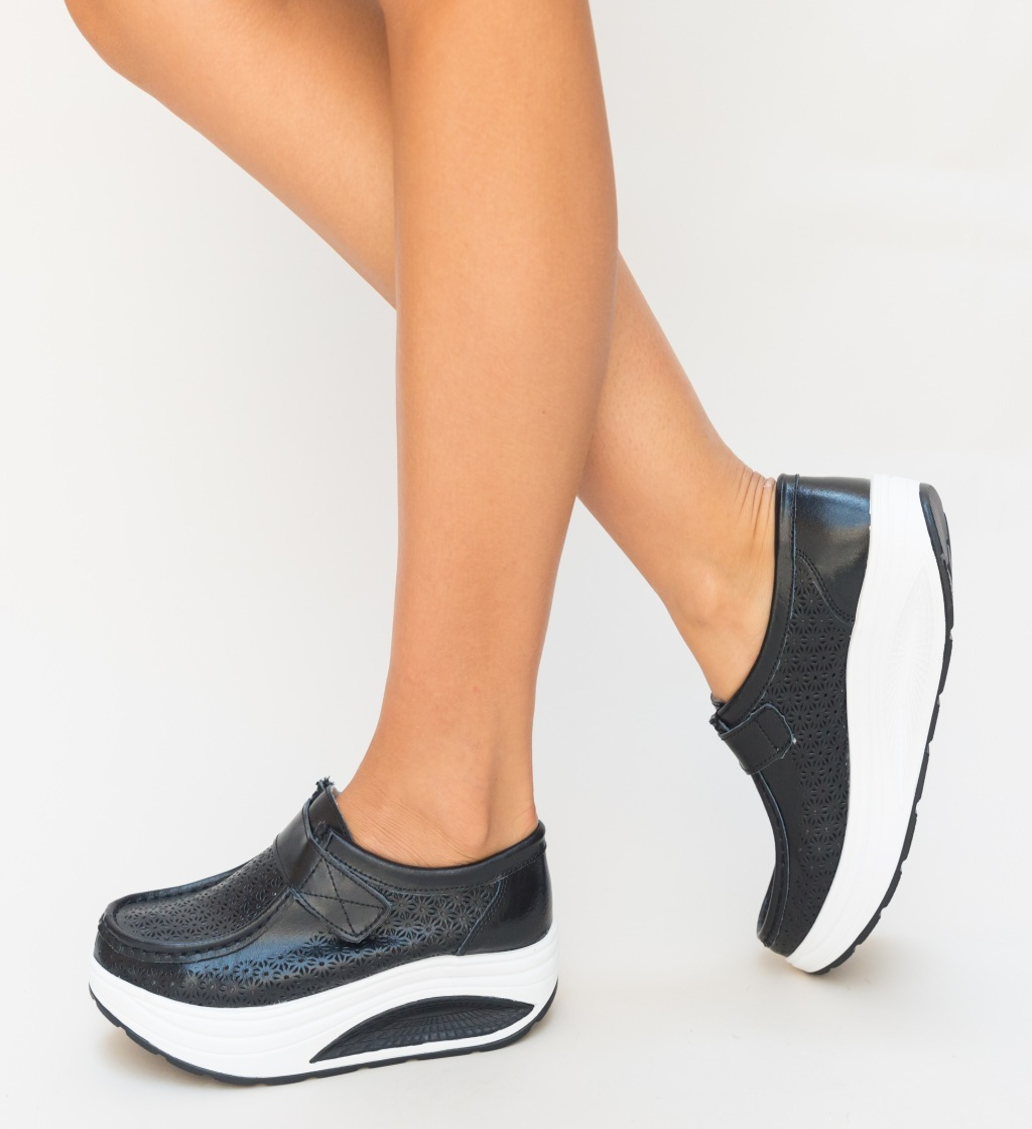 Pantofi Casual Cleva Negri imagine