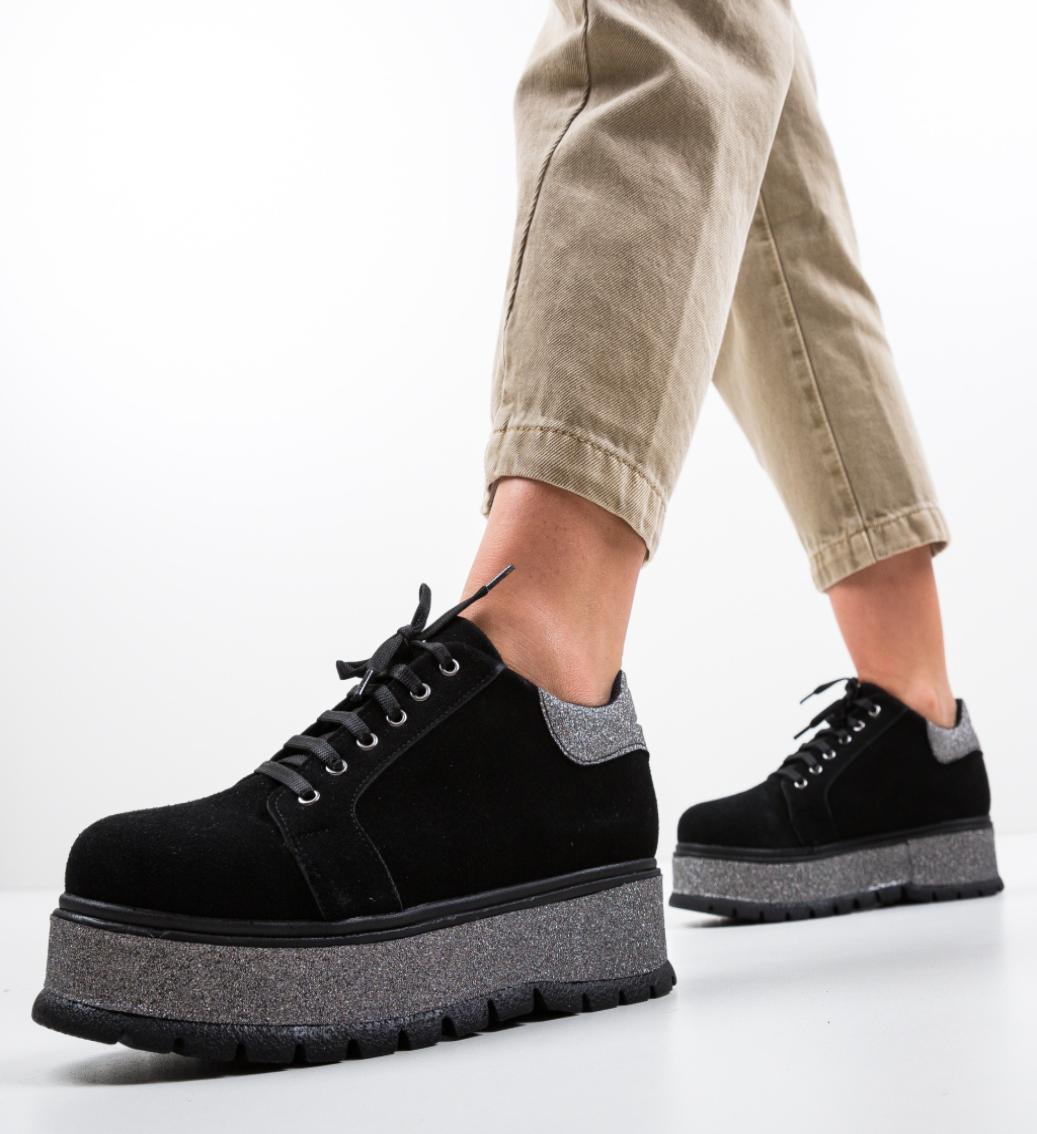 Pantofi Casual Cornero Negri