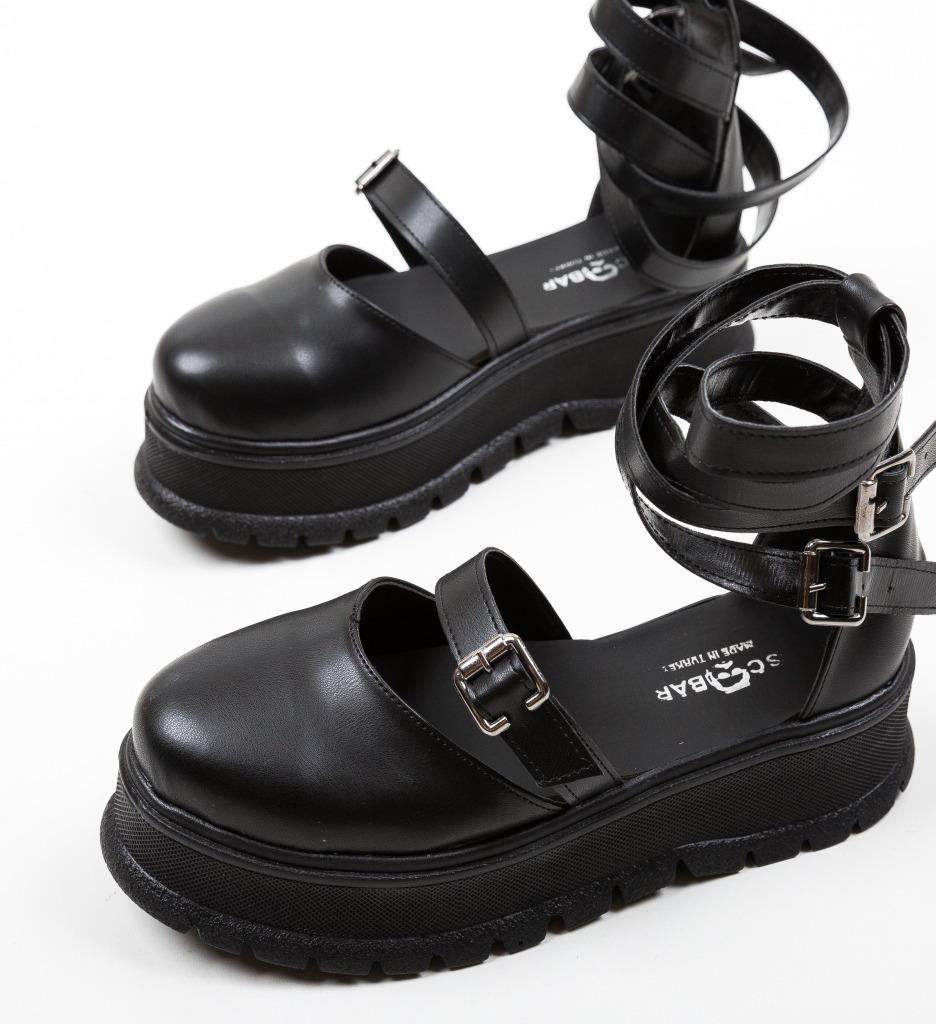 Pantofi Casual Deluxema Negri 2