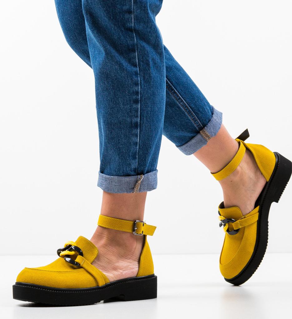 Pantofi Casual Dimic Galbeni