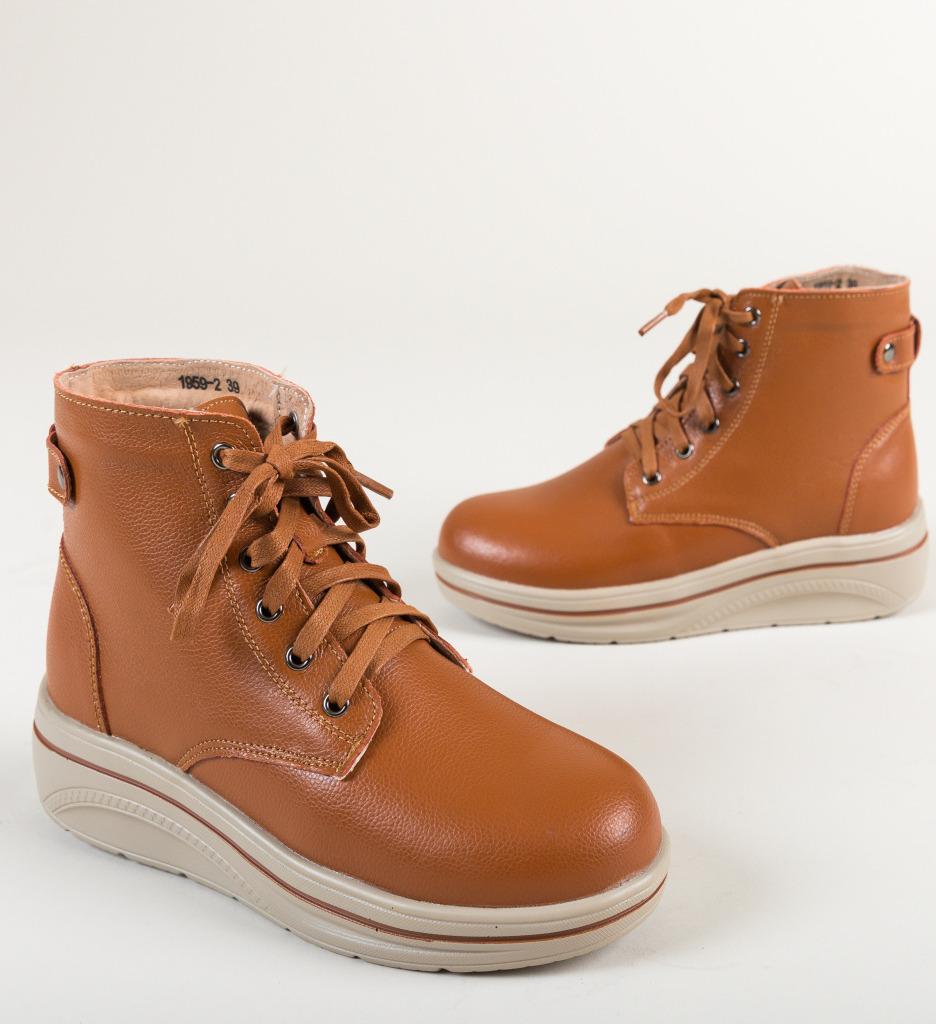Pantofi Casual Lakiob Camel
