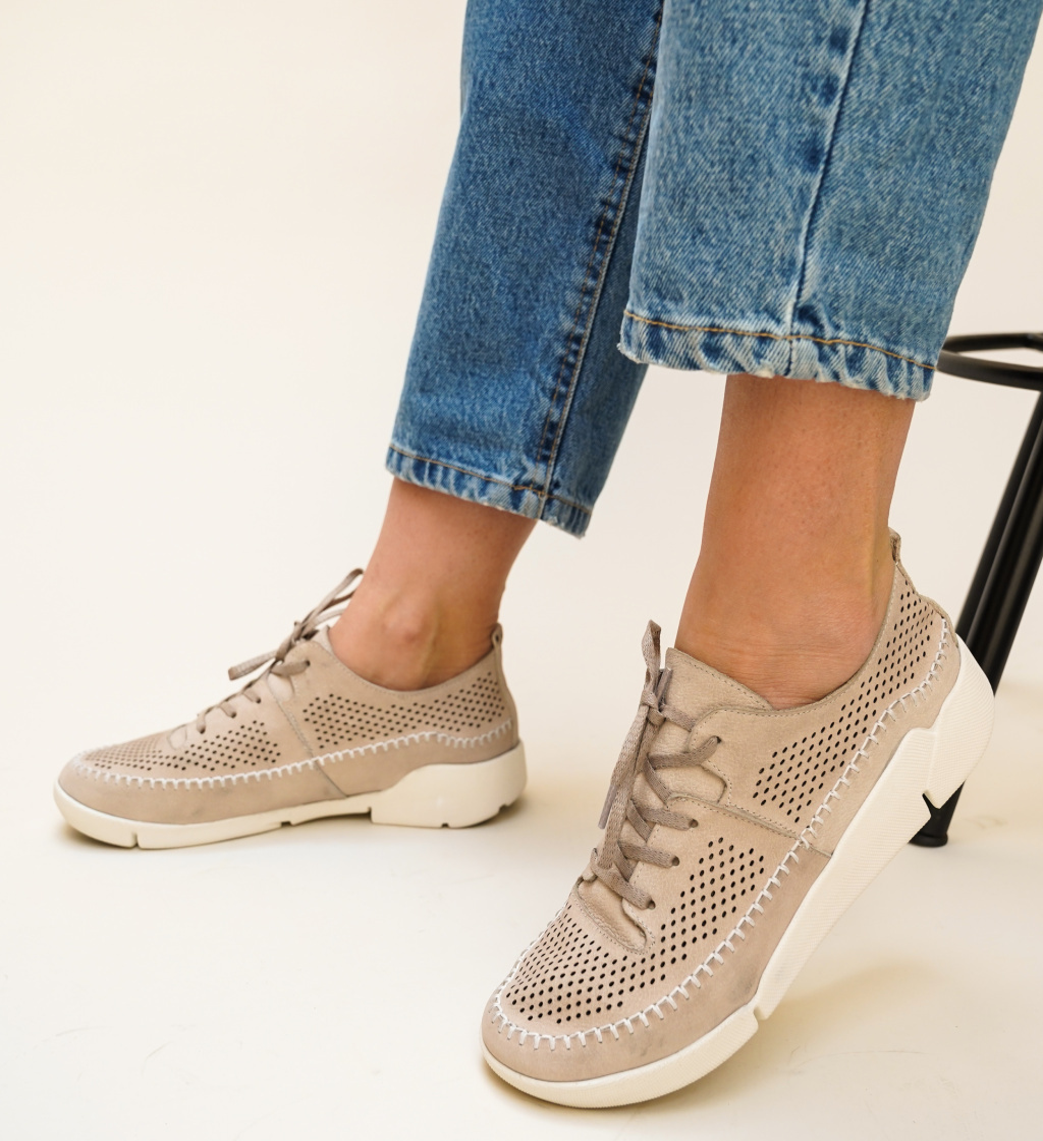 Pantofi Casual Monaco Bej
