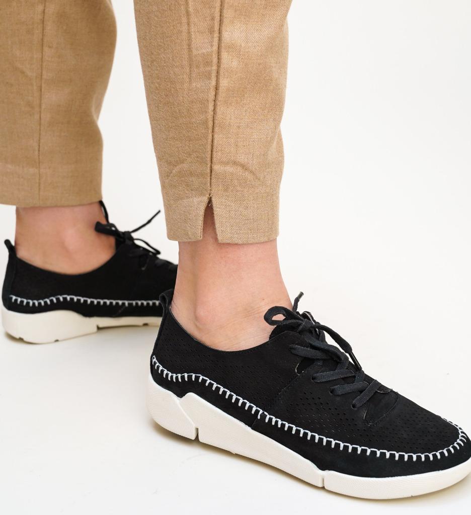 Pantofi Casual Monaco Negri