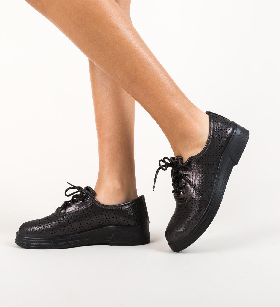 Pantofi Casual Nalido Negri