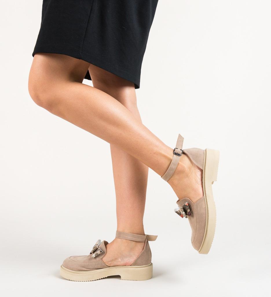 Pantofi Casual Pretty Bej 2