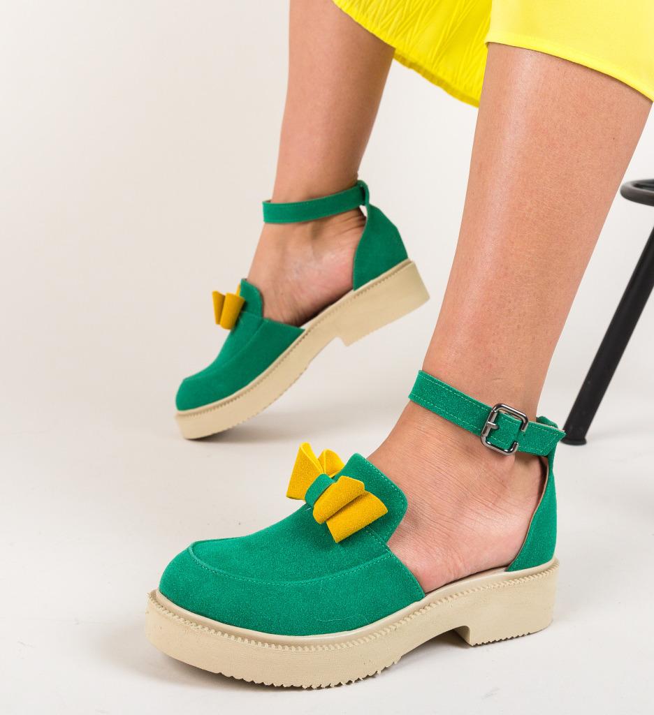Pantofi Casual Pretty Verzi