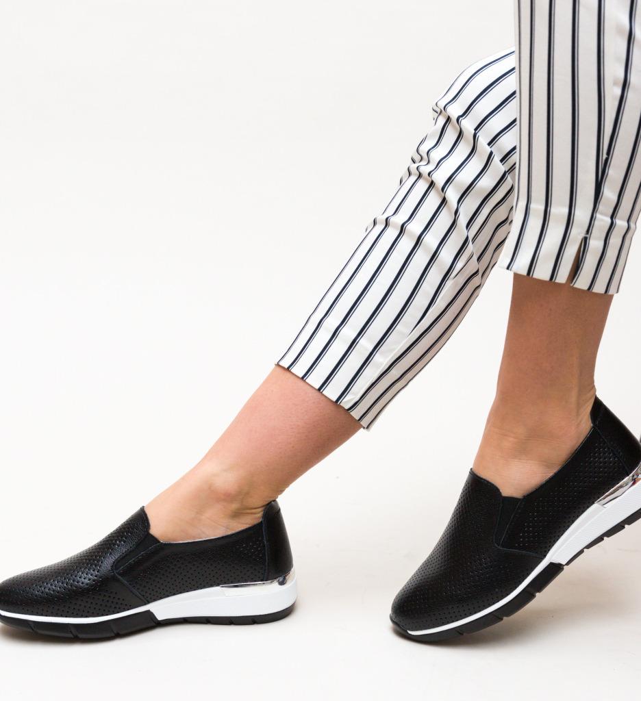 Pantofi Casual Pufine Negri imagine