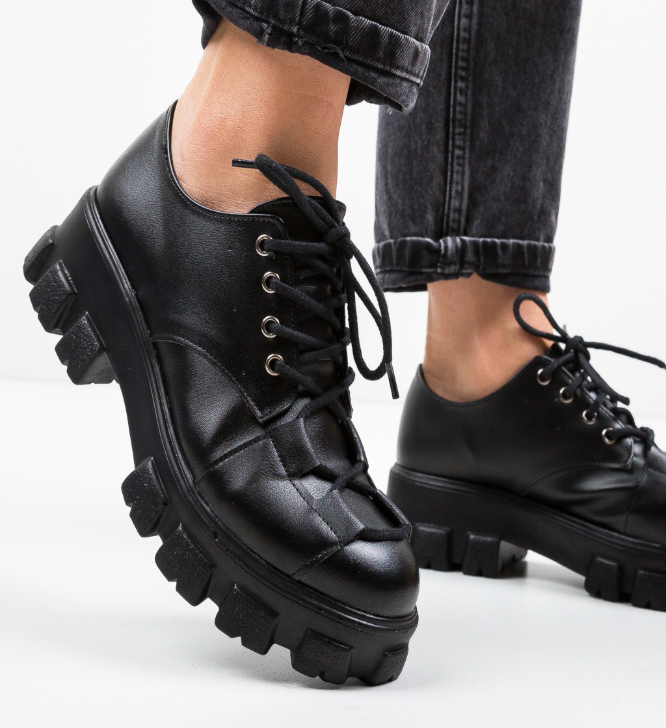 Pantofi Casual Rabcos Negri